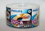 Pkt 50 PHILIPS 16X Logo DVD-R DVDR Blank Disc Media 4.7GB 120Min