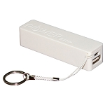 2600 MAH POWER BANK USB TO MICRO USB IN COLOR: WHITE OR BLACK