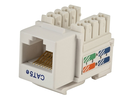 shaxon bm603w810 10b category 5e keystone jack rj45 to 110 white rh computerplanetpr com