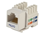 Shaxon BM603W810-10B, Category 5E Keystone Jack, RJ45 to 110-White