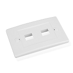 Cable Matters Wall Plate with 2-Port Keystone Jack in White