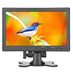Loncevon-10.1 inch Small Portable Laptop Computer Monitor with HDMI VGA Port; Raspberry pi Display Screen Monitor ; Video HDMI Monitor HD 1024x600 - Build with Dual Speakers, MP5 USB Port , Remote