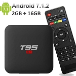 \EASYTONE Android 7.1.2 TV Box,2018 Newest TV Boxes Android 7.1 with 2GB+ 16GB/ Quad Core CPU 64 Bits Supporting 4K (60Hz) Full HD/H.265 /3D Outputs Google TV Box T95