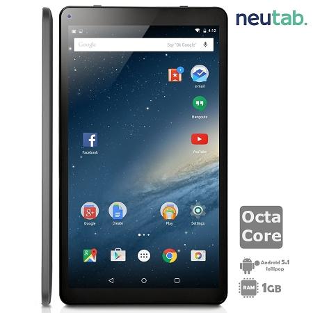 NeuTab 10 1 Inch Octa Core Android 5 1 Lollipop Tablet PC, 1GB RAM 16GB  ROM, Bluetooth 4 0 Dual Camera Mini HDMI output, 1 Year US Warranty, FCC