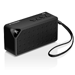 Bluetooth Speaker B-trek S2 - Black 6 Hours Battery - Built-in Mic for Hands Free Speakerphone - 10 Meter - 33 Foot Range - Rechargeable & Removable Lithium Ion Battery - Wireless - Mini Size - AUX Line in & Microsd Card Slot Allows Audio Music Playback