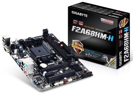 A68H SATA 6Gb//s USB 3.0 mATX ATX DDR3 2133 NA Motherboards GA-F2A68HM-H Gigabyte AMD FM2