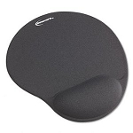 Mouse Pad and Gel Wrist Rest, 10-3/8w x 1d x 8-7/8, Black