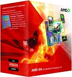 AMD APU A-4 3400 2700Mhz X2 Socket FM1 Processor with Graphics 65W 1MB Cache ,Model AD3400OJHXBOX -Retail
