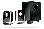 Logitech LS21 7Watts 2.1 Black Stereo Speaker System, Model 980-000058 - Retail