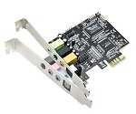 SYBA 7.1 Surround Sound Digital/Analog PCIe Audio Card VIA VT1723 Envy24DT Chipset Model SD-PEX63034 - Retail
