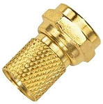 TWIST ON RG-6 Connector Gold Blister Pack