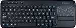 Logitech Wireless Touch Keyboard K400 with Built-In Multi-Touch Touchpad, Black, Standard Packaging