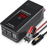 POTEK 750W Power Inverter 12V DC to 110V AC Car Adapter with two USB and AC charging ports for laptop, tablet, smartphone, camera and more