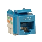 Cat5e 110 Style Punch Down Keystone Jack - Blue - Retail